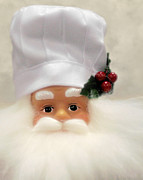 Santa Claus Prints - Heavens Chef Print by Christine Till