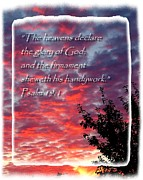 Christian Poster Acrylic Prints - Heavens Acrylic Print by Cindy Wright