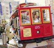 Cable Car Prints - Heavens Great San Franciscos Better Print by Mike Hill