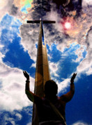 Praying Digital Art Posters - Heavens Prayers Poster by David Lee Thompson