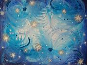 Outerspace Paintings - Heavens Skys by Krystyna Spink