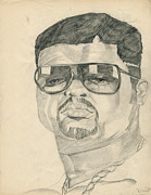 Hip Drawings - Heavy D by Allen Walters