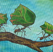 Ants Paintings - Heavy Load by Sandy Tracey