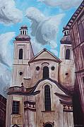 Praha Paintings - Heavy Sky by Keith Higgins