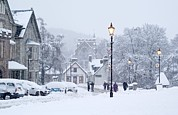 Villagers Framed Prints - Heavy Snowfall, Braemar, Scotland Framed Print by Duncan Shaw