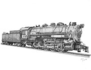 Coal Burner Posters - Heavy Steam Switcher 0-10-0 Poster by Calvert Koerber
