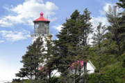 Haunted House Photo Posters - Heceta Head Lighthouse - Oregons iconic Pacific Coast Light Poster by Christine Till
