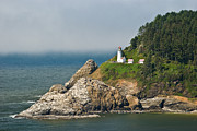 Keepers House Photos - Heceta Head Lighthouse Oregon Coast by Jim Chamberlain
