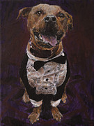 Pet Therapy Framed Prints - Hector the Inspector Framed Print by Clara Yori