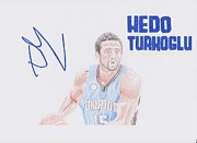Nba Metal Prints - Hedo Turkoglu Metal Print by Toni Jaso