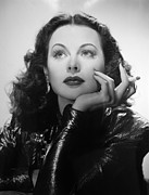 Hedy Framed Prints - Hedy Lamarr, 1940s Framed Print by Everett