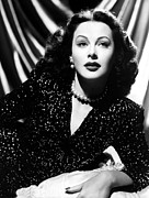 Hedy Framed Prints - Hedy Lamarr, 1943 Framed Print by Everett