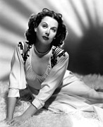 Hedy Framed Prints - Hedy Lamarr, 1947 Framed Print by Everett