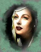 Hollywood Legend Posters - Hedy Lamarr Poster by Arne Hansen