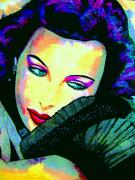 Movie Stars Painting Prints - Hedy Lamarr Print by Colleen Kammerer