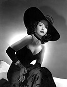 Floppy Hats Prints - Hedy Lamarr Print by Everett