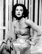 Diamond Earrings Framed Prints - Hedy Lamarr In Promotional Photo For My Framed Print by Everett