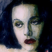 Hollywood Paintings - Hedy Lamarr by Paul Lovering