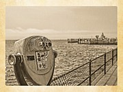 Jersey Shore Photo Metal Prints - Heed The Warning Metal Print by Edward Fielding