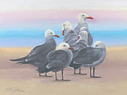 Carol Pastels - Heermanns On The Sand Canvas Giclee Print by Carol Thompson