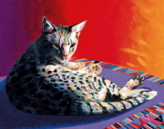 Feline Paintings - Heidi by Bob Coonts