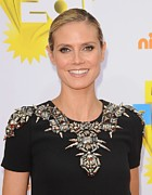 Jeweled Dress Framed Prints - Heidi Klum At Arrivals For Nickelodeons Framed Print by Everett