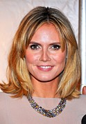 Diamond Necklace Photos - Heidi Klum At Arrivals For Reaching Out by Everett