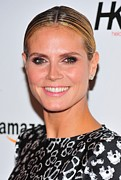 Hair Bun Acrylic Prints - Heidi Klum In Attendance For Heidi Klum Acrylic Print by Everett