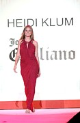 Red Dress Posters - Heidi Klum In Attendance For The Heart Poster by Everett