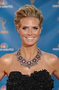 Atas Emmys Awards Framed Prints - Heidi Klum  Wearing A Lorraine Schwartz Framed Print by Everett