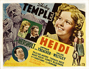 Marcia Prints - Heidi, Shirley Temple, Jean Hersholt Print by Everett