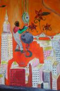 40s Paintings - Heights by Ashley Burbach