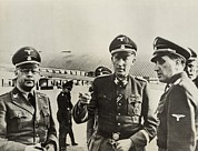 Germans Metal Prints - Heindrich Himmler Leftand Heydrich Metal Print by Everett