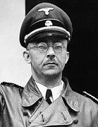 1940s Portraits Photo Prints - Heinrich Himmler 1900-1945, Nazi Leader Print by Everett