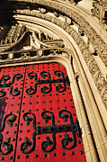 Wooden Building Prints - Heinz Chapel Doors Print by Thomas R Fletcher