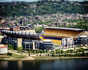 Man Cave Framed Prints - Heinz Field Pittsburgh Steelers Framed Print by Lisa Russo