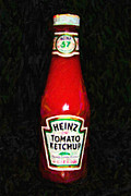 Popart Digital Art Metal Prints - Heinz Tomato Ketchup Metal Print by Wingsdomain Art and Photography
