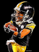 Steelers Digital Art Posters - Heinz Ward Poster by Stephen Younts