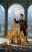 Knight Framed Prints - Heir to the Kingdom Framed Print by Greg Olsen