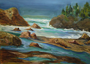 Heisler Park Paintings - Heisler Park Laguna Beach by Al Steinberg