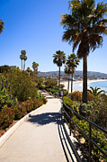 Walkway Prints - Heisler Park Laguna Beach California Print by Paul Velgos