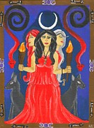 Goddess Mythology Paintings - Hekate Goddess of the Crossroads by Tara Campbell