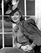 Feathered Hat Framed Prints - Helen Hayes, 1940 Framed Print by Everett