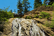 Colorado Springs Mixed Media Prints - Helen Hunt Falls Print by Angelina Vick