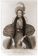 Prostitutes Prints - Helen Jewett 1813-1836 Was An New York Print by Everett