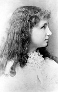 Helen Framed Prints - Helen Keller At 12 Years Of Age In 1892 Framed Print by Everett