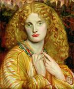 Necklace Paintings - Helen of Troy by Dante Charles Gabriel Rossetti