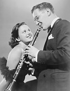 Jazz Singer Posters - Helen Ward 1916-1998 And Benny Goodman Poster by Everett