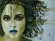 Carter Framed Prints - Helena bonham Carter Framed Print by Paul Lovering