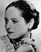 Candid Portraits Prints - Helena Rubinstein, 1871-1965, Founder Print by Everett
